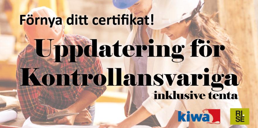 Kurs-annons: Uppdatering för Kontrollansvariga