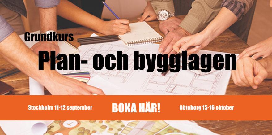 Kurs-annons: Plan- och bygglagen